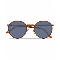 Persol 0PO2422SJ Round Sunglasses Light Gold/Light Blue