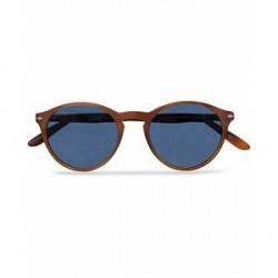 Persol 0PO3092SM Round Sunglasses Terra Di Siena/Blue Mirror