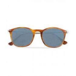Persol 0PO3124S Round Sunglasses Light Havana/Silver Mirror