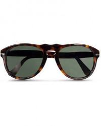 Persol PO0649 Sunglasses Havana/Crystal Green men One size Brun