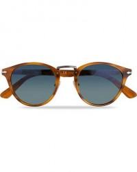 Persol PO3108S Polarized Sunglasses Striped Brown/Gradient Blue men One size Brun