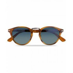 Persol PO3108S Polarized Sunglasses Striped Brown/Gradient Blue