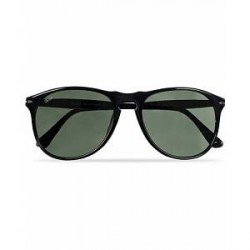 Persol PO9649S Sunglasses Black/Crystal Green