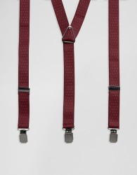 Peter Werth Braces In Burgundy Spot - Red