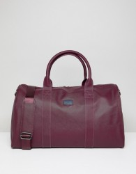 Peter Werth Etched Holdall In Burgundy - Red