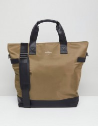 Peter Werth Nason Nylon Tote Holdall - Green