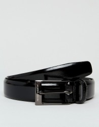 Peter Werth Patent Leather Belt In Black - Black