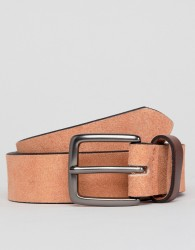 Peter Werth Pink Suede Belt With Contrast Keeper - Pink