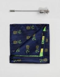 Peter Werth Pocket Square & Lapel Pins - Gold