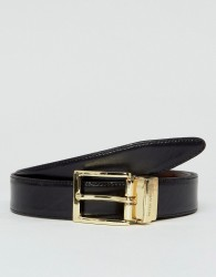 Peter Werth Reversible Leather Belt In Black & Brown - Black