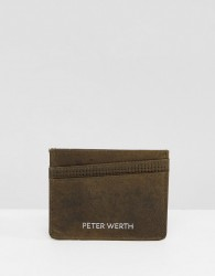 Peter Werth Tully Texture Card Holder - Green
