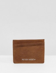 Peter Werth Tully Texture Card Holder - Tan