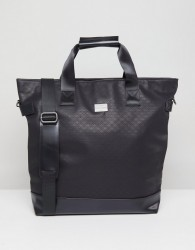 Peter Werth Tully Texture Tote Holdall - Black