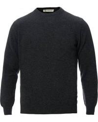 Piacenza Cashmere Cashmere Crew Neck Sweater Charcoal men 46 Grå