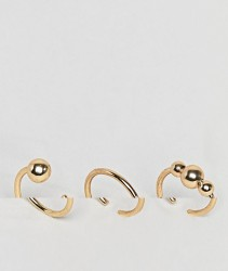 Pieces 3 Pack Ring Set - Gold