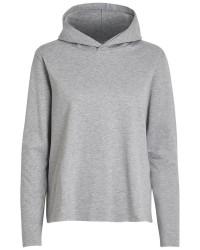 Pieces Annekatrine ls sweat hoodie (LYSEGRÅ, S)