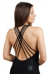 Pieces - Badedragt - PC Lea Swimsuit - Black