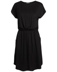 Pieces Billo ss o-neck dress solid noos (MØRKEBLÅ, L)