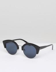 Pieces Black Round Sunglasses - Black