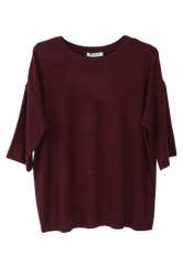 Pieces - Bluse - PC Jolie 2/4 Tee - Port Royale