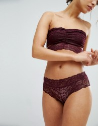 Pieces Brazilian Lace Knickers - Red