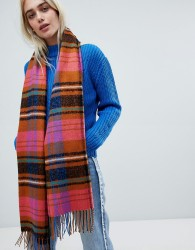 Pieces bright check scarf - Multi