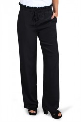 Pieces - Bukser - PC Elna Wide Pant - Black