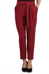 Pieces - Bukser - PC Freya HW Pants - Tibetan Red