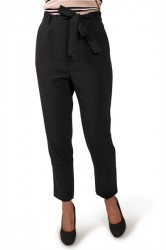 Pieces - Bukser - PC Joy HW Pants - Black