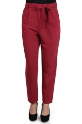 Pieces - Bukser - PC Joy HW Pants - Tibetan Red