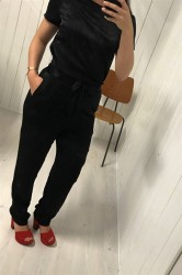 Pieces - Bukser - PC Lene HW Pants - Black
