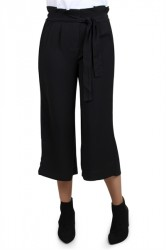 Pieces - Bukser - PC Savannah Wide Culotte - Black