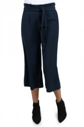 Pieces - Bukser - PC Savannah Wide Culotte - Navy Blazer