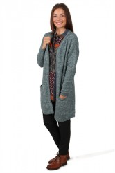 Pieces - Cardigan - PC Renee LS Long Wool Cardigan - Balsam Green