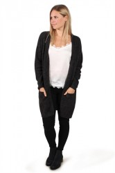 Pieces - Cardigan - PC Renee LS Long Wool Cardigan - Dark Grey Melange