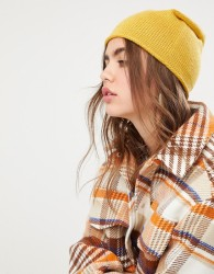 Pieces Cashmere Beanie - Yellow