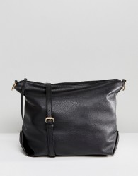 Pieces Chain Shoulder Bag - Black