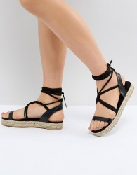 Pieces Espadrille Sandal - Black
