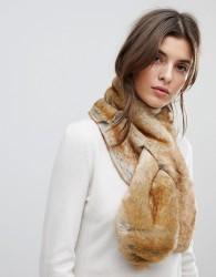 Pieces Faux Fur Collar Scarf - Beige