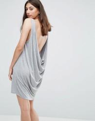 Pieces Gilia Low Back Vest Dress - Grey