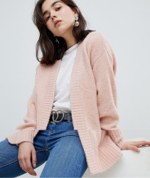 Pieces Glitter Knit Cardigan - Pink