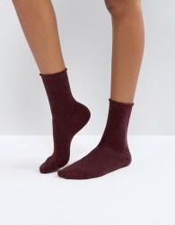 Pieces Glitter Socks - Purple