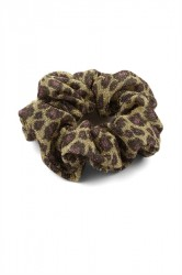 Pieces - Hårelastik - Scrunchie - Gold Colour