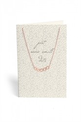 Pieces - Halskæde - PC Lala Necklace Gift Card Box - Gold Colour - Just Some Small Dots