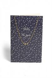 Pieces - Halskæde - PC Lala Necklace Gift Card Box - Gold Colour - Listen To You