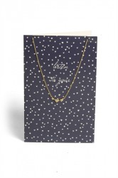 Pieces - Halskæde - PC Lala Necklace Gift Card Box - Gold Colour - Listen To You