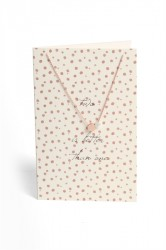 Pieces - Halskæde - PC Lala Necklace Gift Card Box - Gold Colour - Two Is Better Than One