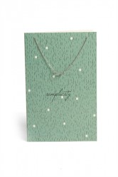 Pieces - Halskæde - PC Lala Necklace Gift Card Box - Silver Colour - Simplicity