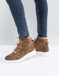 Pieces Hiking Boots - Tan