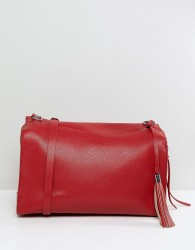 Pieces Holdall With Tassel Detail - Red